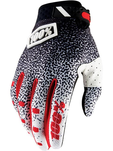 100% Ridefit Gloves black/white